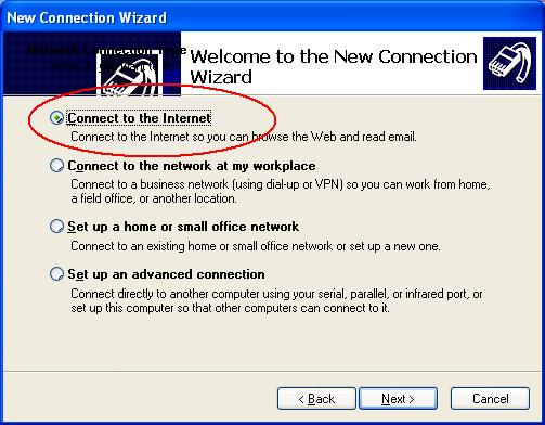 連接網際網路設定